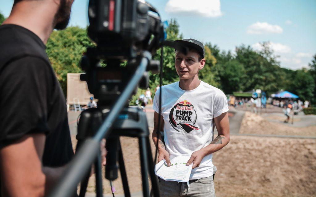 Medienarbeit beim Red Bull Pump Track World Championship Qualifier Event am 14. Juli in Groß-Umstadt.